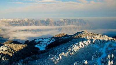 神农架雾凇的冰雪仙境