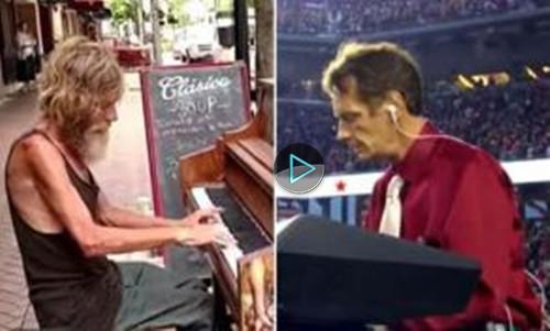 流浪漢鋼琴家成名後改變人生 現身表演感動眾人