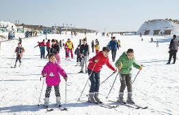 第六屆鄂爾多斯冰雪旅遊文化節在九城宮旅遊度假區開幕
