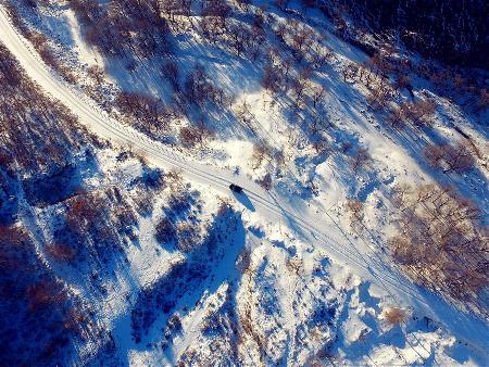 大青山雪景美如畫