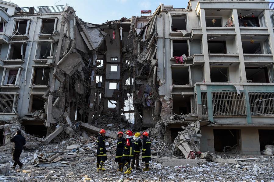 包頭一居民樓天然氣管道爆炸 已致3人死亡