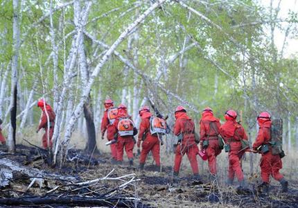 內蒙古那吉林場森林火災火場煙點全部撲滅