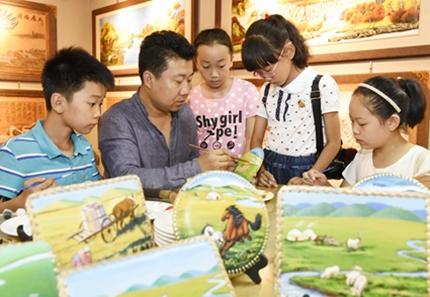 蒙古族皮雕畫藝術館開館