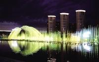 美!水係燈光扮靚呼和浩特璀璨夜景