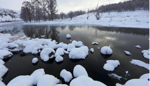 """內蒙古阿爾山""""不凍河""""-40℃依然流水淙淙"""