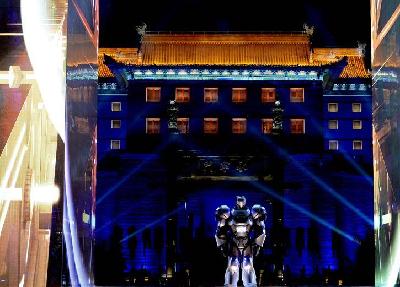 光影盛典炫舞西安古城墻