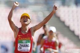 内蒙古选手勇夺田径世青赛10000米竞走冠军