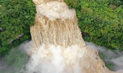 黃果樹瀑布出現入秋以來最大洪峰