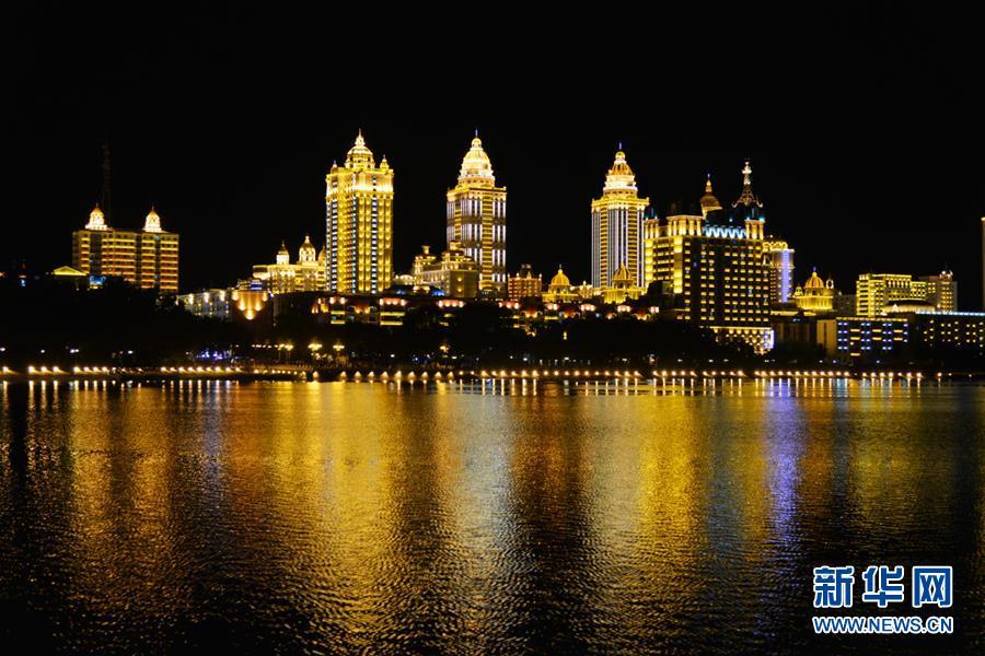 滿洲裏城市夜景