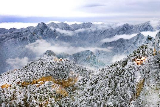 雪後華山 冬日畫境