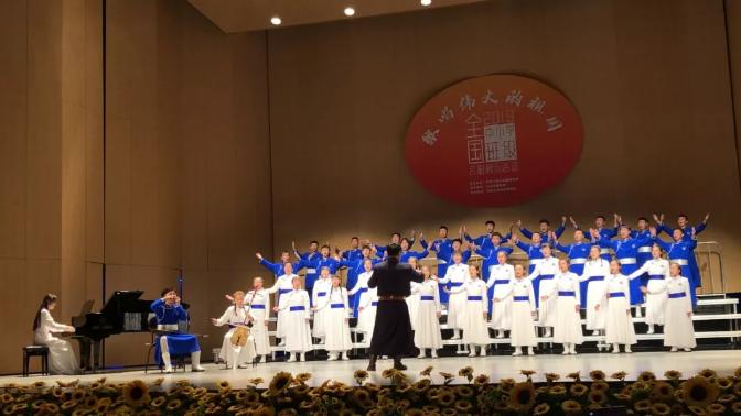 內蒙古一中學獲全國中小學班級合唱展示活動一等獎
