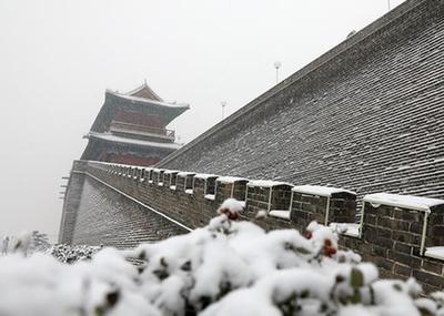 正定古城賞雪