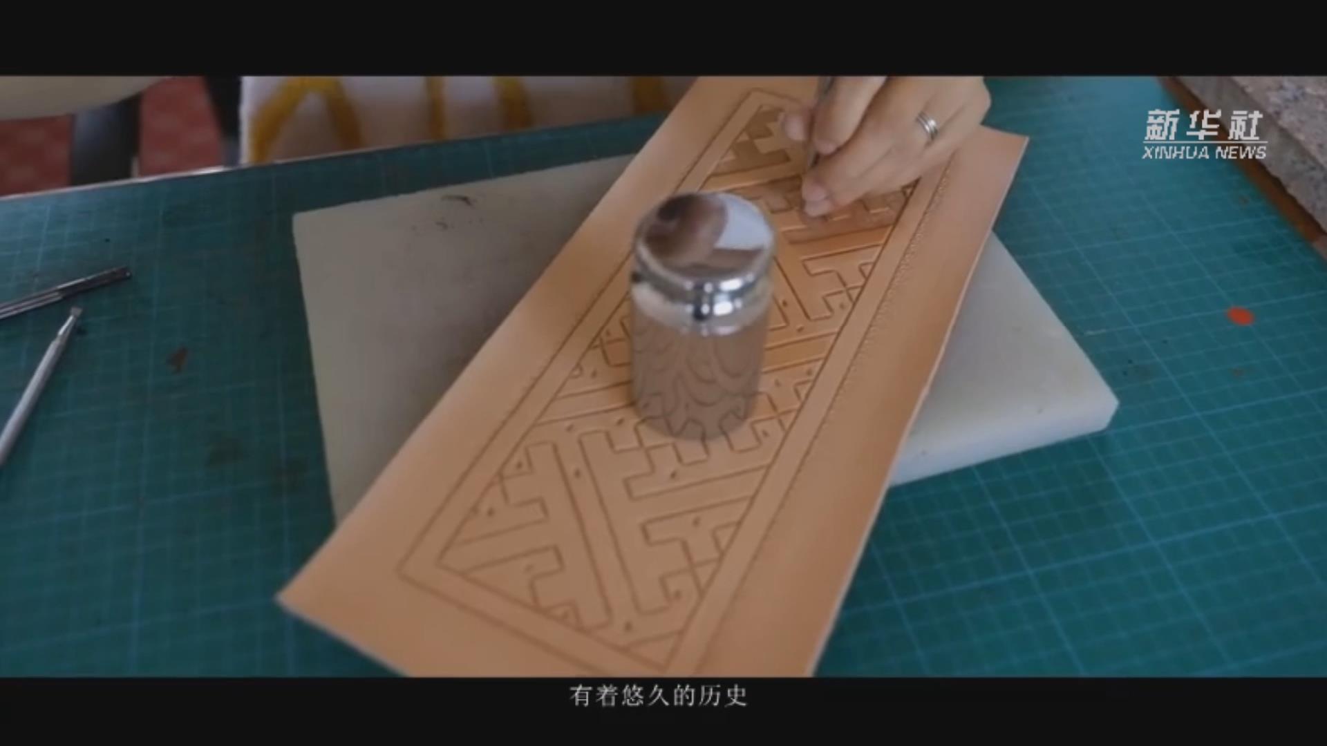 蒙古族皮雕