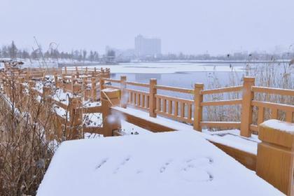 內蒙古初冬降雪
