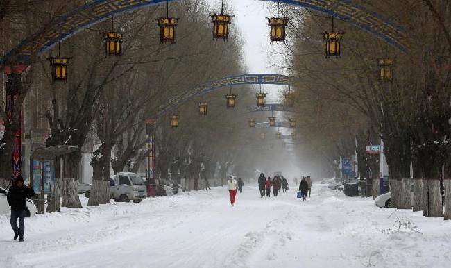 內蒙古東部降雪持續