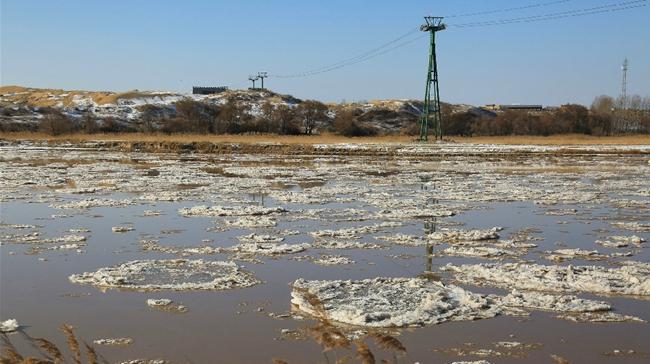 黃河內蒙古托克托縣段出現流淩