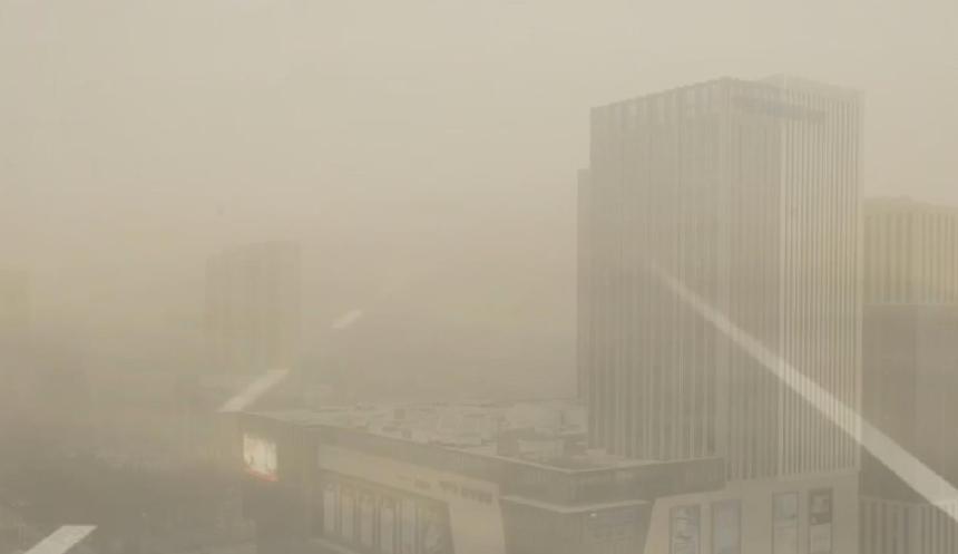 沙塵侵擾內蒙古