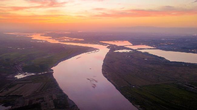 內蒙古:黃河秋景